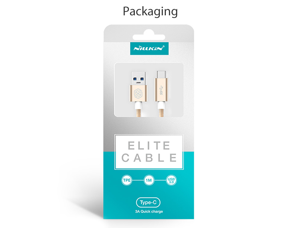 NILLKIN Elite Series Type-C to USB 3.0 Data Charging Nylon Cable 1M