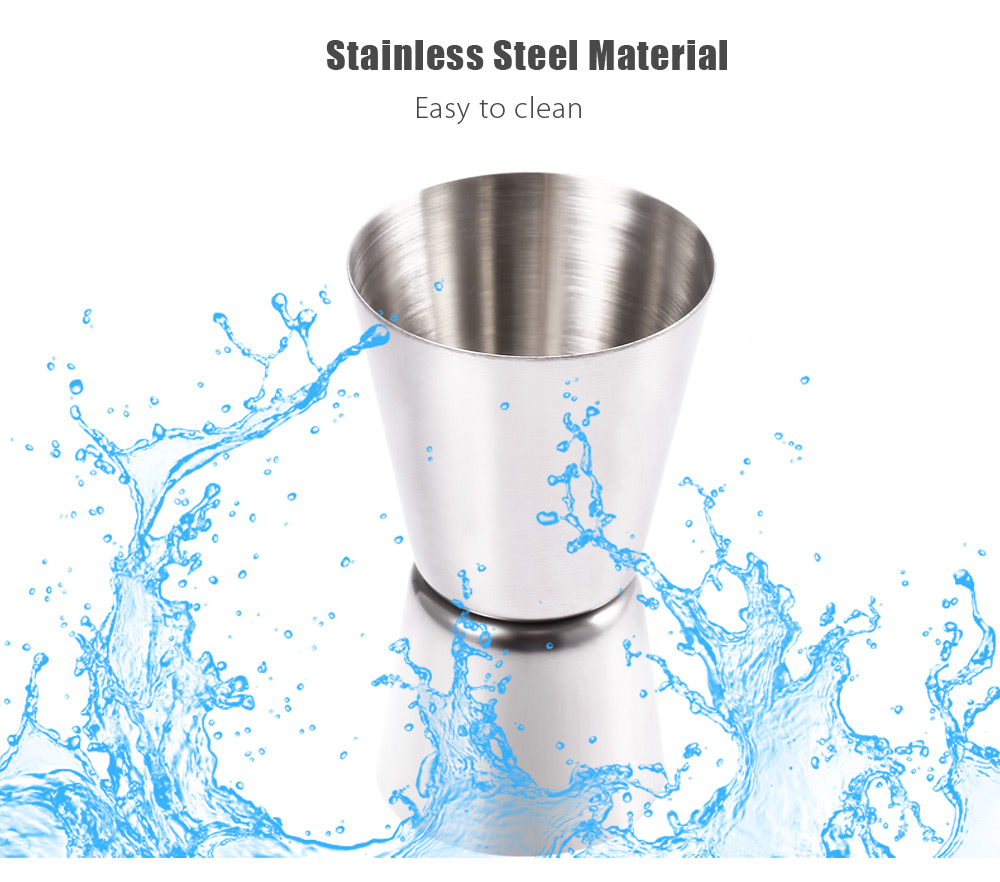 Stainless Steel Jiggle Single Double Shot Cocktail Wine Measure Cup