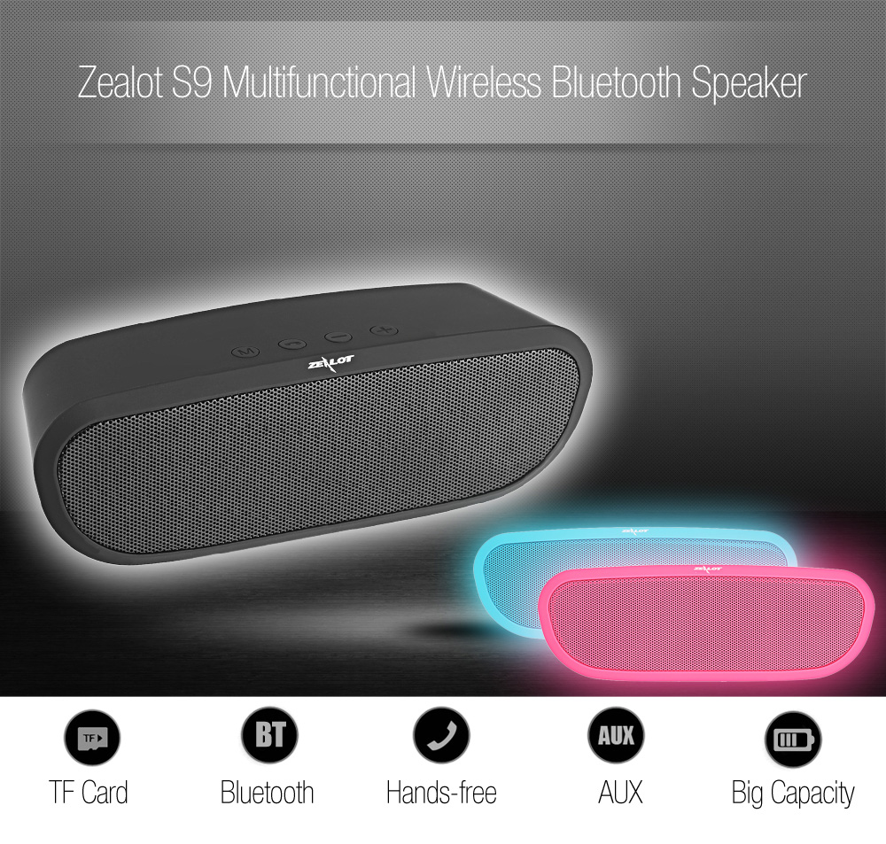 zelota s9 multifunzionale wireless bluetooth oratore