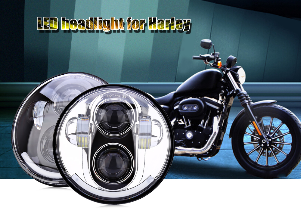 5.75 inch 40W LED Head Light Motorcycle Headlamp for Harley