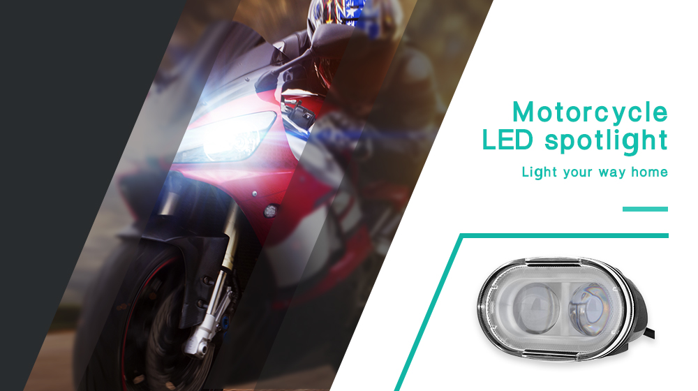Universal 20W Motorcycle LED Spotlight 2000LM Motorbike Fog Light Headlamp