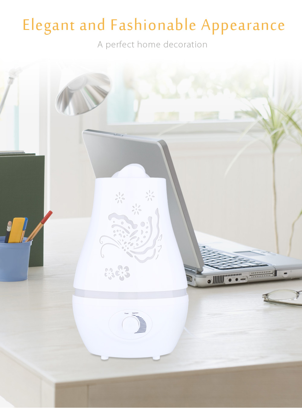2.4L Ultrasonic Essential Oil Diffuser LED Light Air Humidifier Purifier