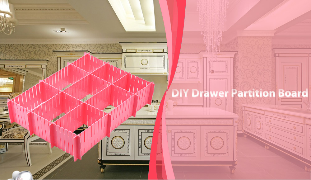 4pcs Creative DIY Organizer Storage Drawer Partition Board Compartment