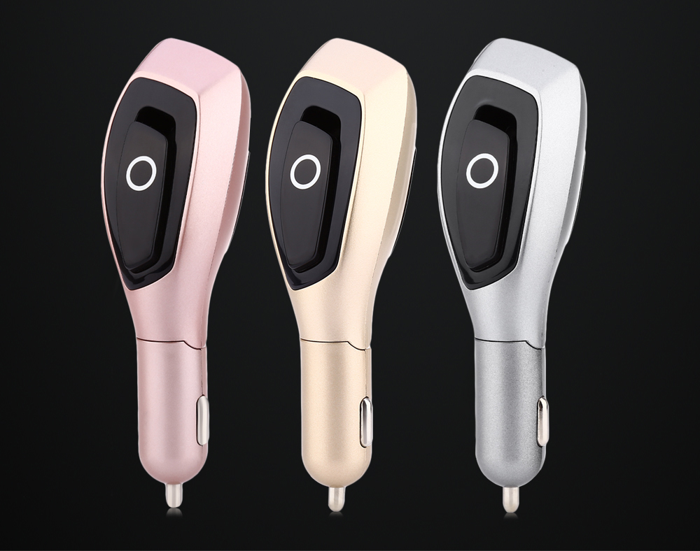 Tuopoda BT001 Car Charger Bluetooth V4.1 Earphones with Air Cleaner