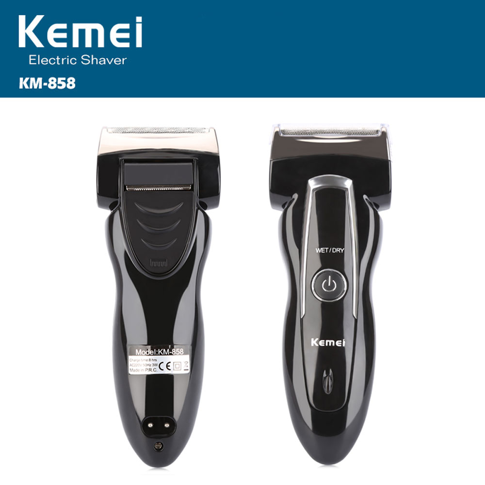 Kemei KM - 858 Reciprocating Electric Travel Use Safe Shaver for Men