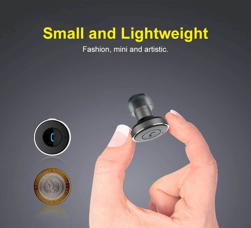 AWEI A870BL Bluetooth V4.1 Hands-free Headset Dual USB Car Charger Earphones
