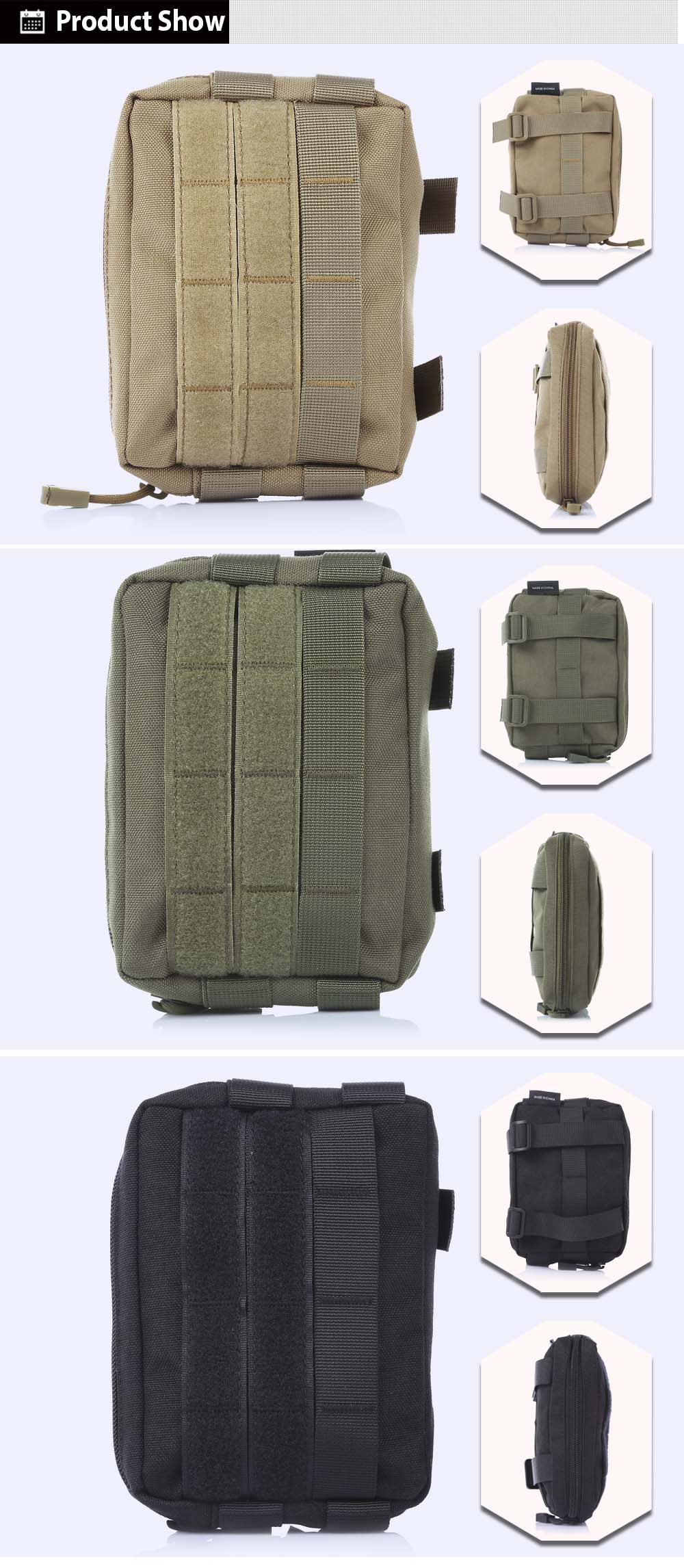 FREEKNIGHT LM - 08 Portable Outdoor Tactical Bag Military Nylon Phone Pouch Case