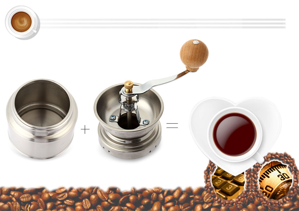 Stainless Steel Adjustable Manual Ceramic Coffee Grinder