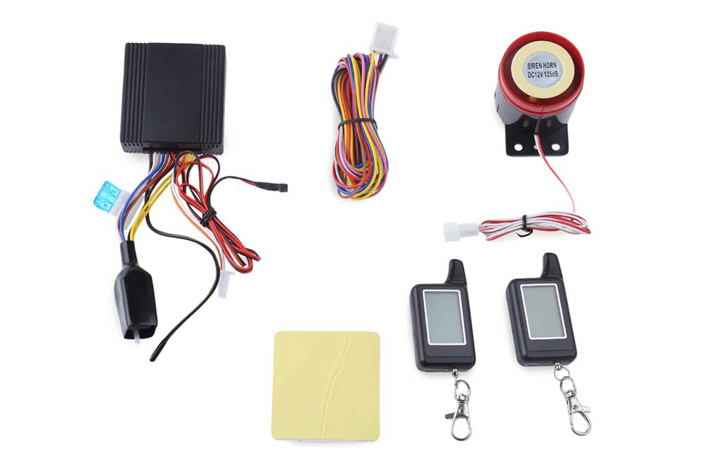 LM300 Water Resistance Two Way LCD Motorcycle Anti-theft Security Alarm System