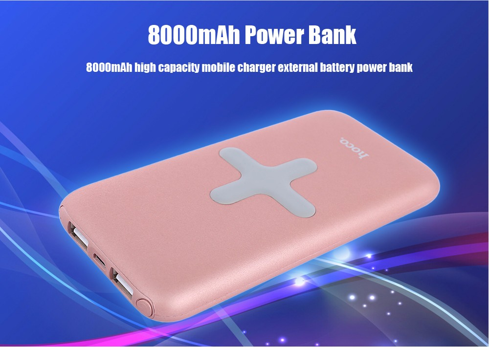 HOCO B11 2 in 1 Qi Wireless Charger + 8000mAh Dual USB External Battery