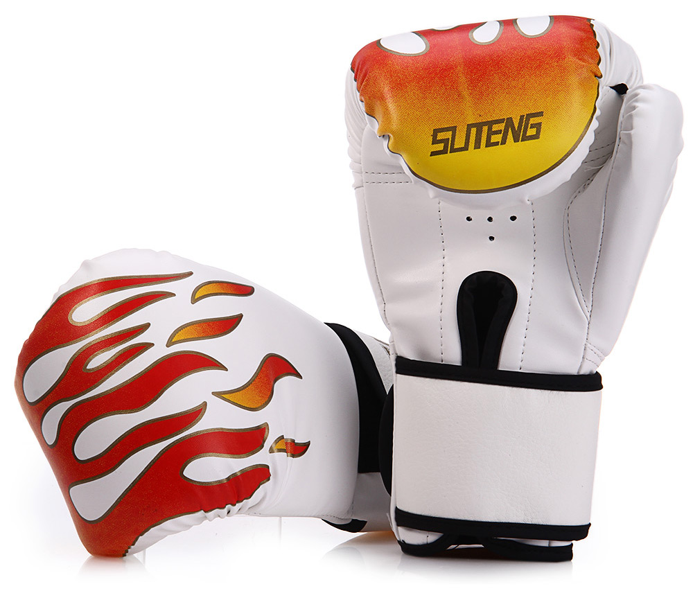 Suten 1 Pair Sparring Muay Thai Grappling Fire Pattern Kick Boxing Gloves