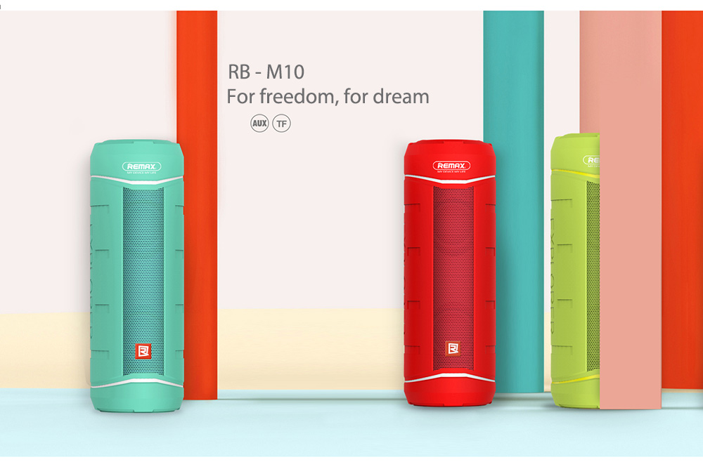 Remax RB - M10 Wireless Bluetooth 4.1 Outdoor Speaker Support Handsfree TF Card Playing AUX Input