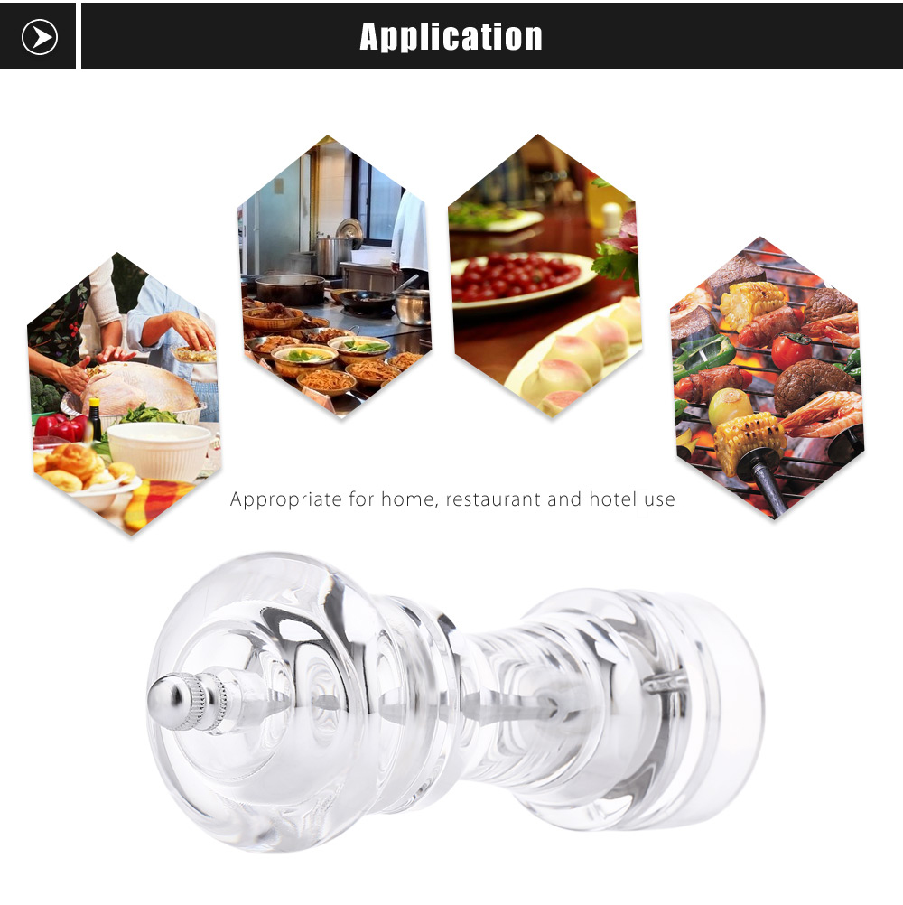 Transparent Acrylic Pepper Spice Manual Grinder Cooking Tool