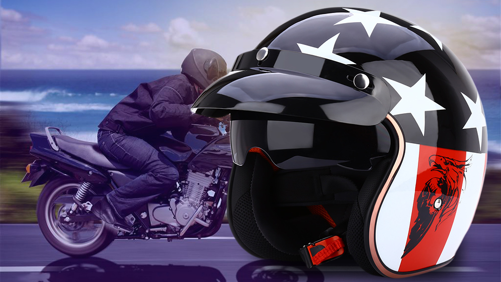 JIEKAI Universal Motorcycle Helmet Open Face Cold Protection Safe Riding Electric Bicycle Headpiece