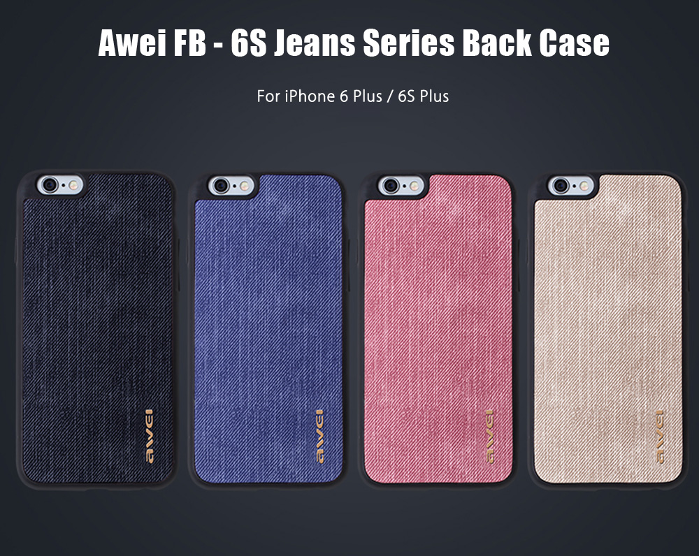 Awei FB - 6S Jeans TPU Back Cover Case for iPhone 6 Plus / 6S Plus 5.5 inch