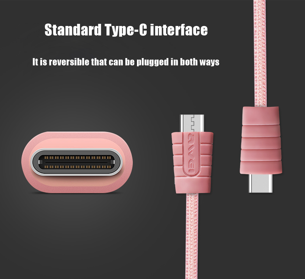 Awei CL - 985 Type-C Nylon Braided Charge Data Transfer Cable 1m