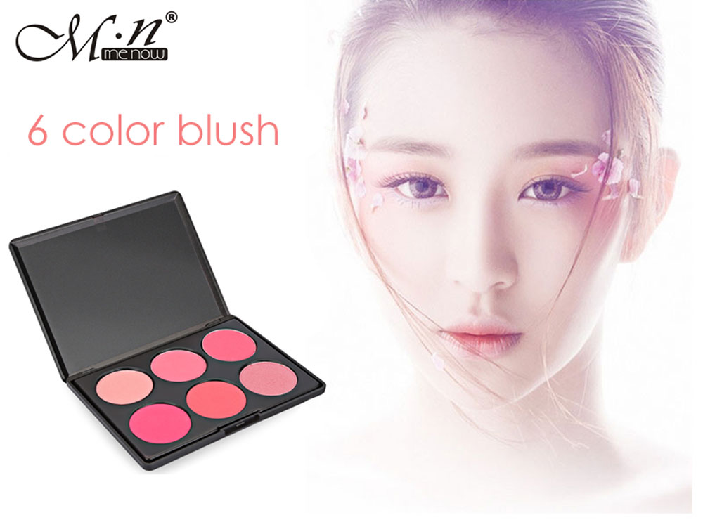 M.n Menow B16002 Long Lasting Tolerance Cosmetics Powder Blush Palette