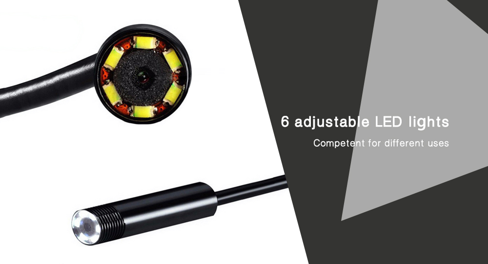 5m 2 in 1 Endoscope IP67 Waterproof Vehicle Error Inspection Camera for Android / Windows