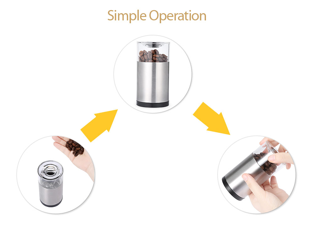 Portable Stainless Steel Manual Salt Pepper Mill Grinder Cooking Tool