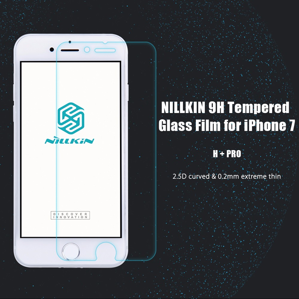 NILLKIN H + PRO 2.5D Curved Tempered Glass Shatterproof Non Full Screen Protective Film for iPhone 7