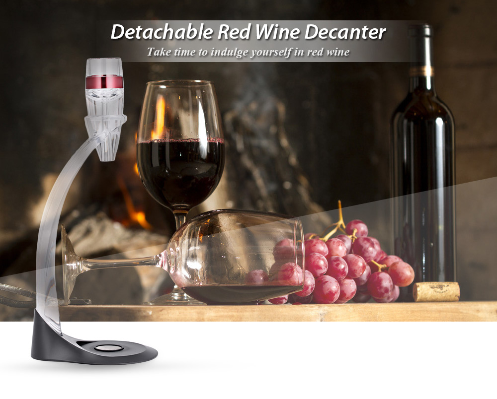 Red Wine Decanter Detachable Acrylic Aerator Set with Stand
