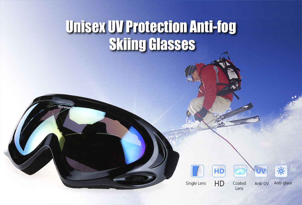 Marsnow 038 UV Protection Anti-fog Skiing Goggles Mask Snowboarding Glasses