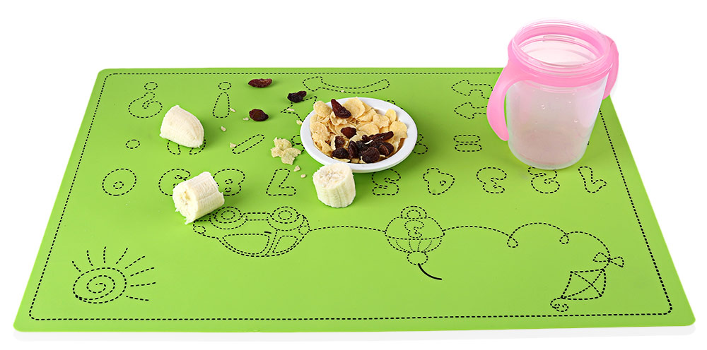 Safety Food Grade Silica Gel Material Kids / Food / Coffee / Dinner Mat
