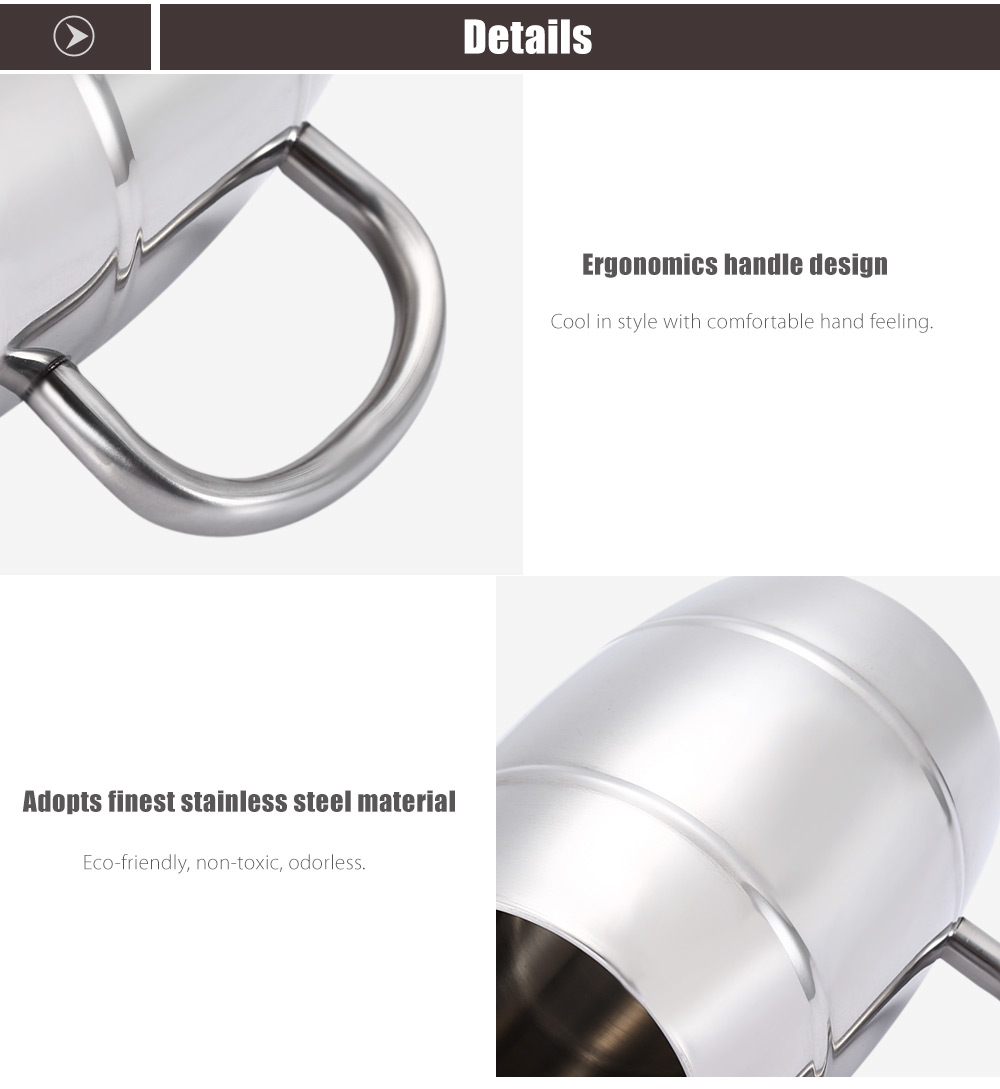 Double-layer Stainless Steel Beer Mug Drinking Cup