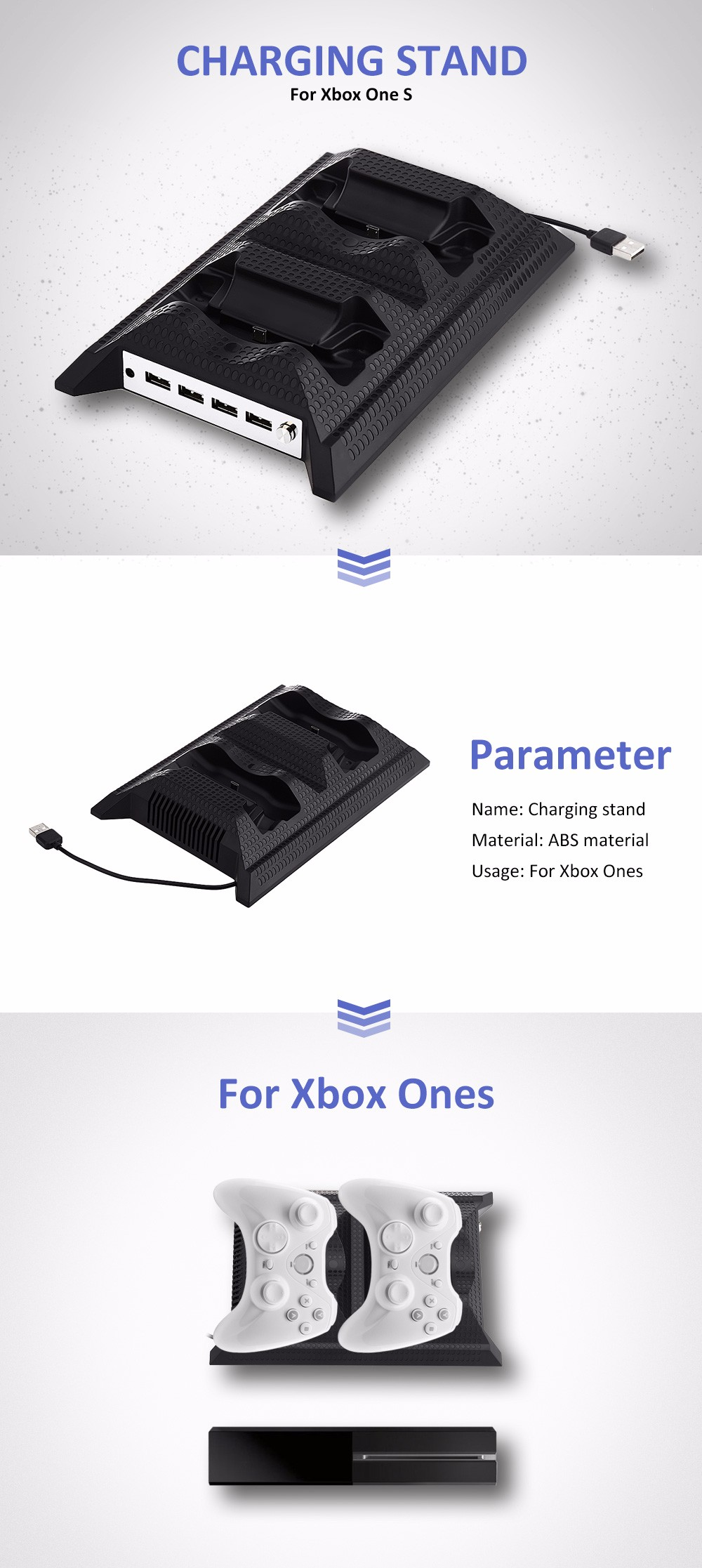 Storage Vertical Stand for Xbox One S Console