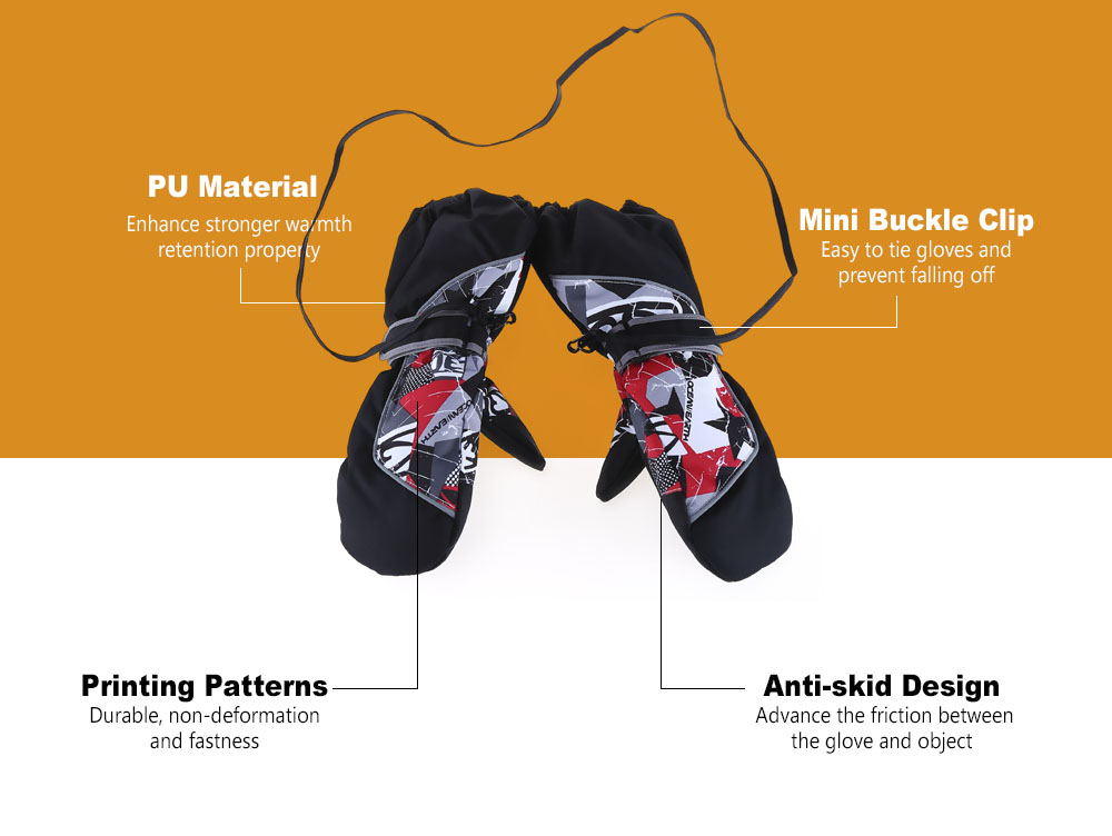 Marsnow Paired Children Outdoor Motorcycle Cycling Windproof Rainproof Gloves