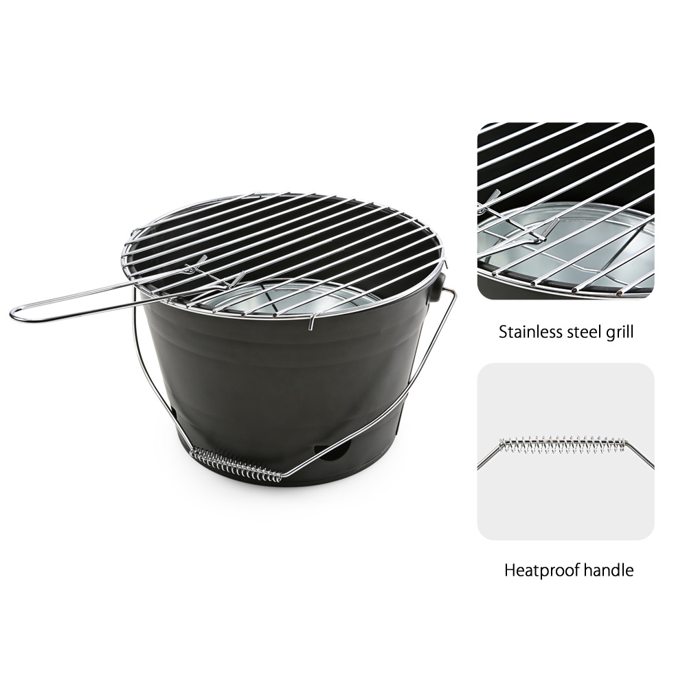 Magicook Portable BBQ Bucket Grill for Camping with Handle