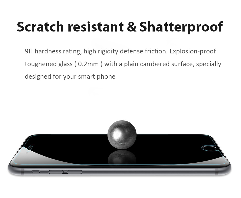 2pcs Baseus 9H 0.2mm Transparent Non Full Screen Light-thin Protective Tempered Glass Film for iPhone 7 Plus 5.5 inch