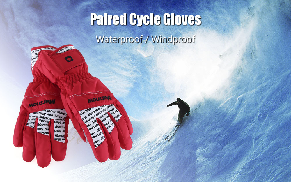 Marsnow Paired Men Women Outdoor Motorcycle Cycling Windproof Rainproof Gloves