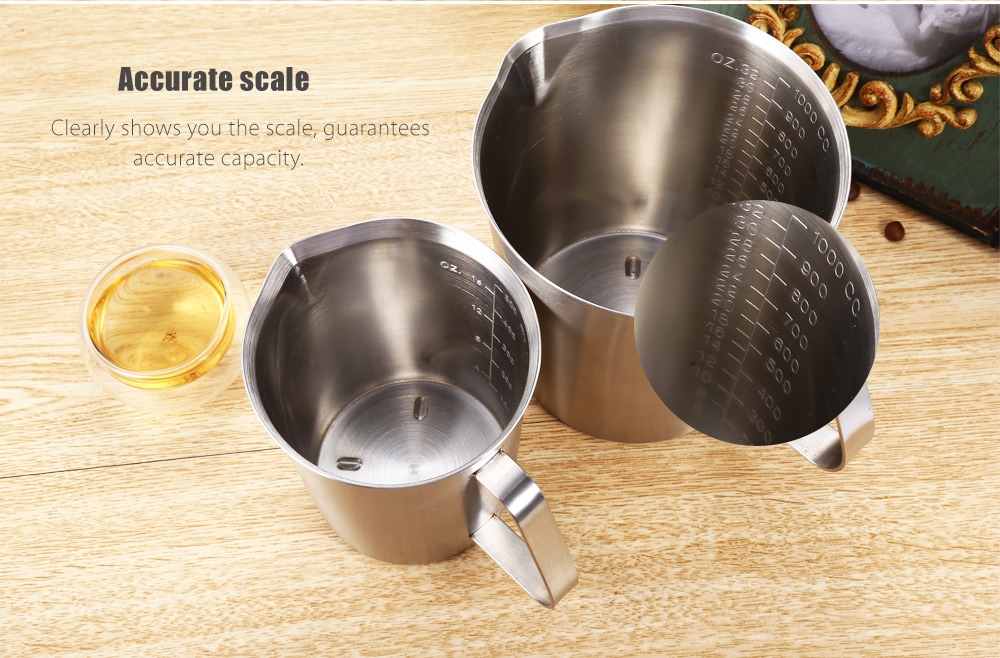 Double-layer Stainless Steel Measuring Cup Kitchen Accessory