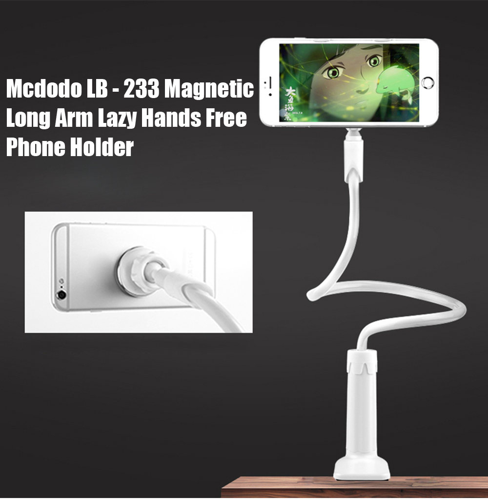 Mcdodo LB - 233 Magnetic 360 Degree Rotating Long Arm Lazy Hands Free Phone Holder