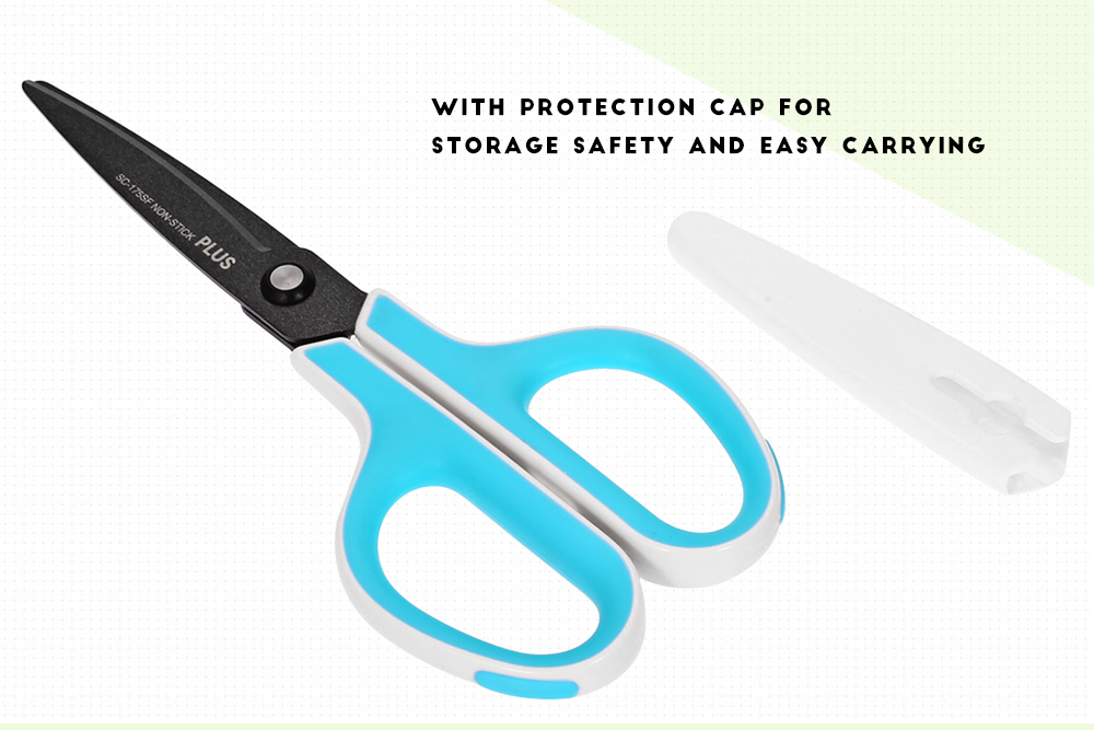 PLUS SC - 175SF Stainless Steel Plating Fluorine Blade Scissors Paper Cutting Office Stationery