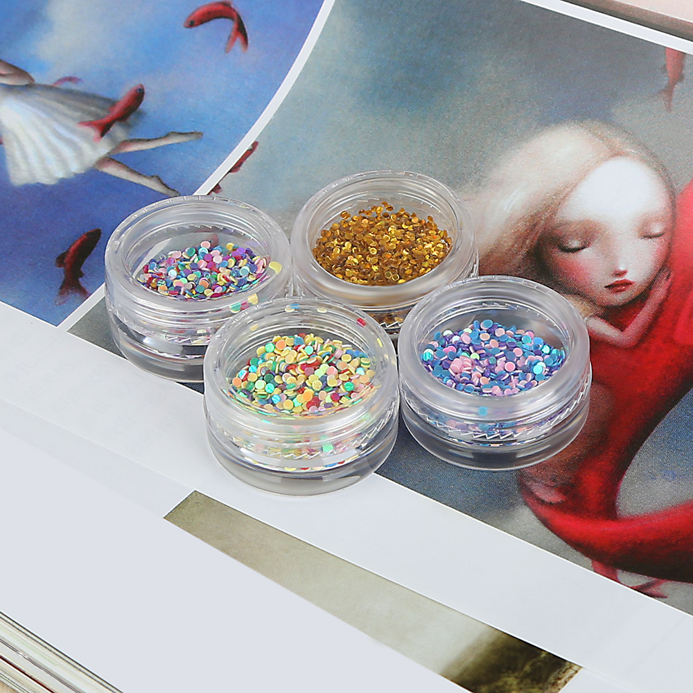 DIY Jewelry Colorful Small Round Symphony Sequins Nail Decoration Tool