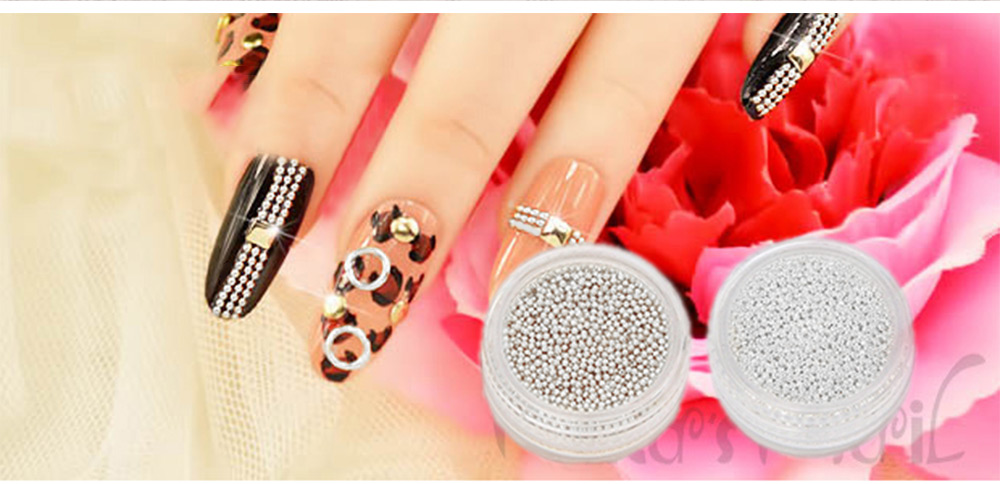 Nail DIY Jewelry Trend Caviar Manicures Clear Transparent Small Micro Beads