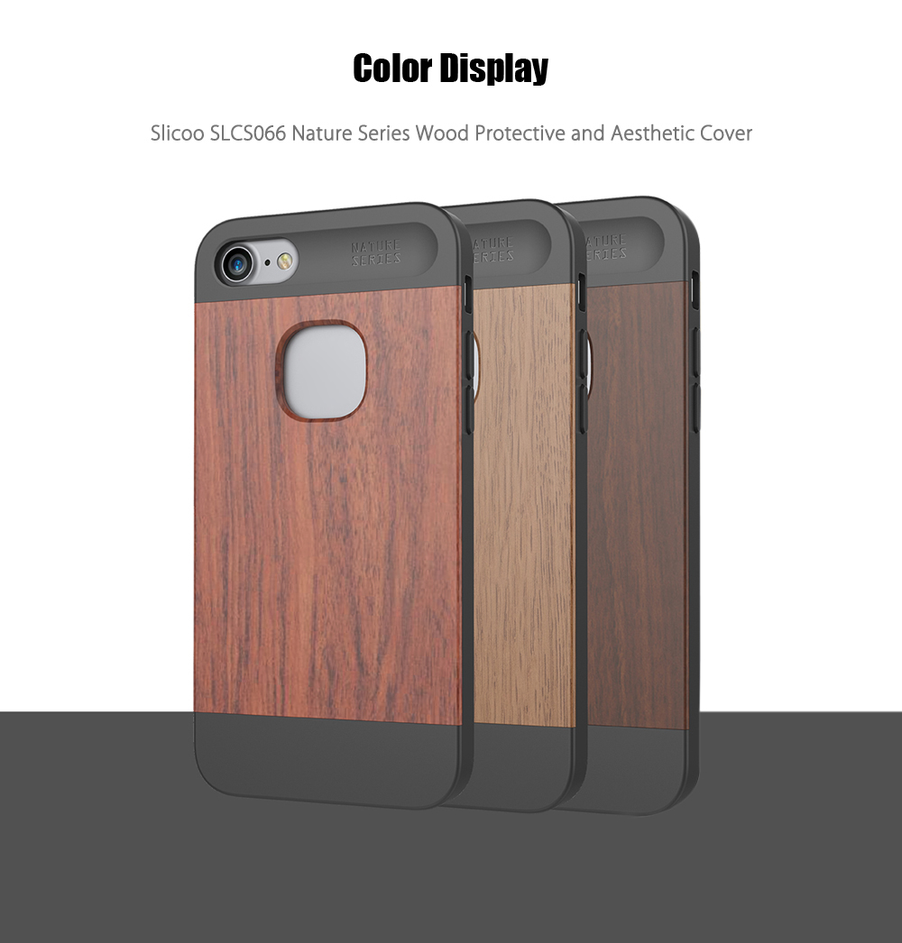 Slicoo SLCS066 Nature Series Wood Slim Protective Skin for iPhone 7