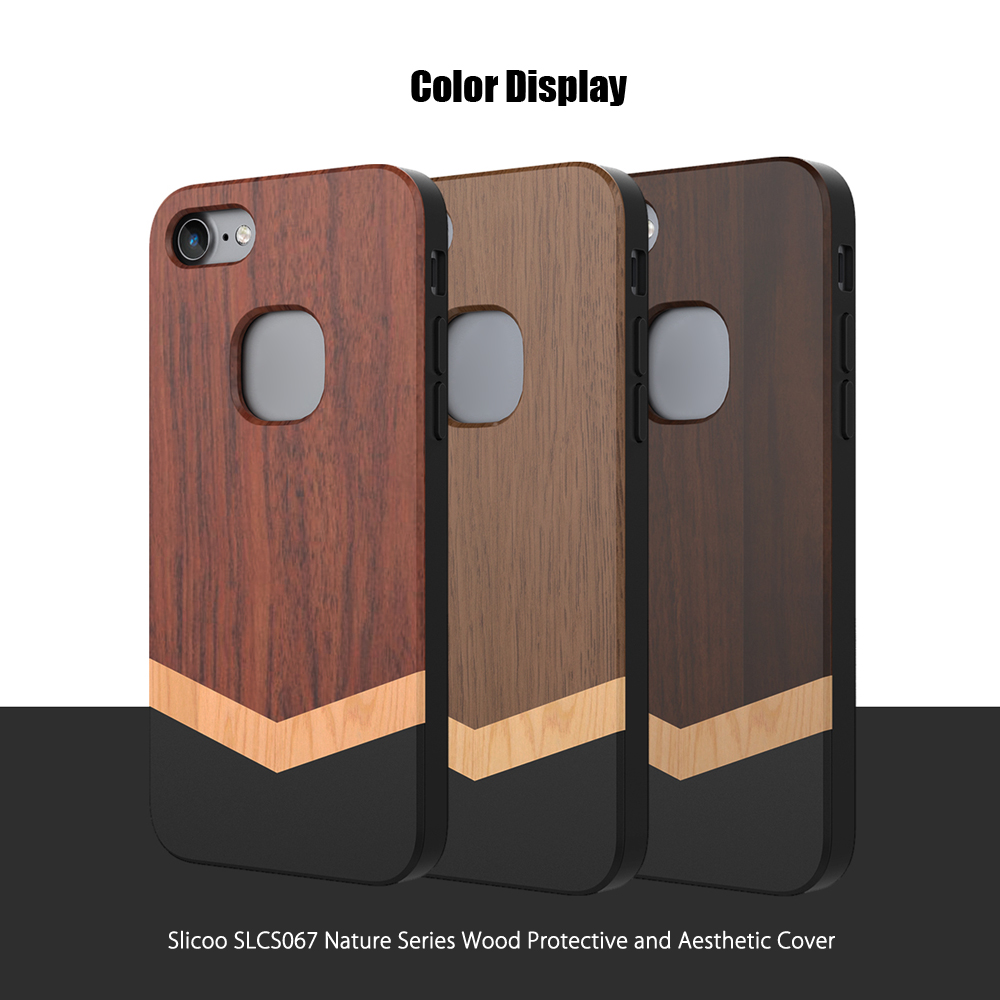 Slicoo SLCS067 Nature Series Wood Slim Protective Skin for iPhone 7
