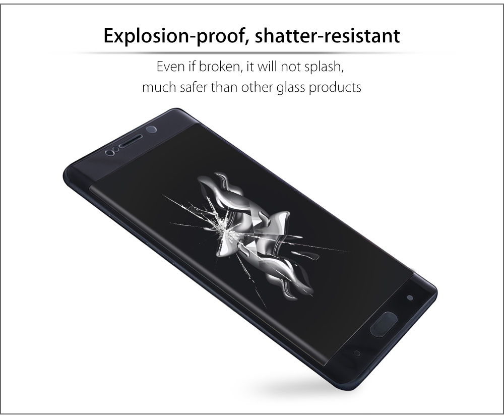 3D Tempered Glass Shatterproof Arc Full Screen Protective Film for Xiaomi Note 2 5.7 inch