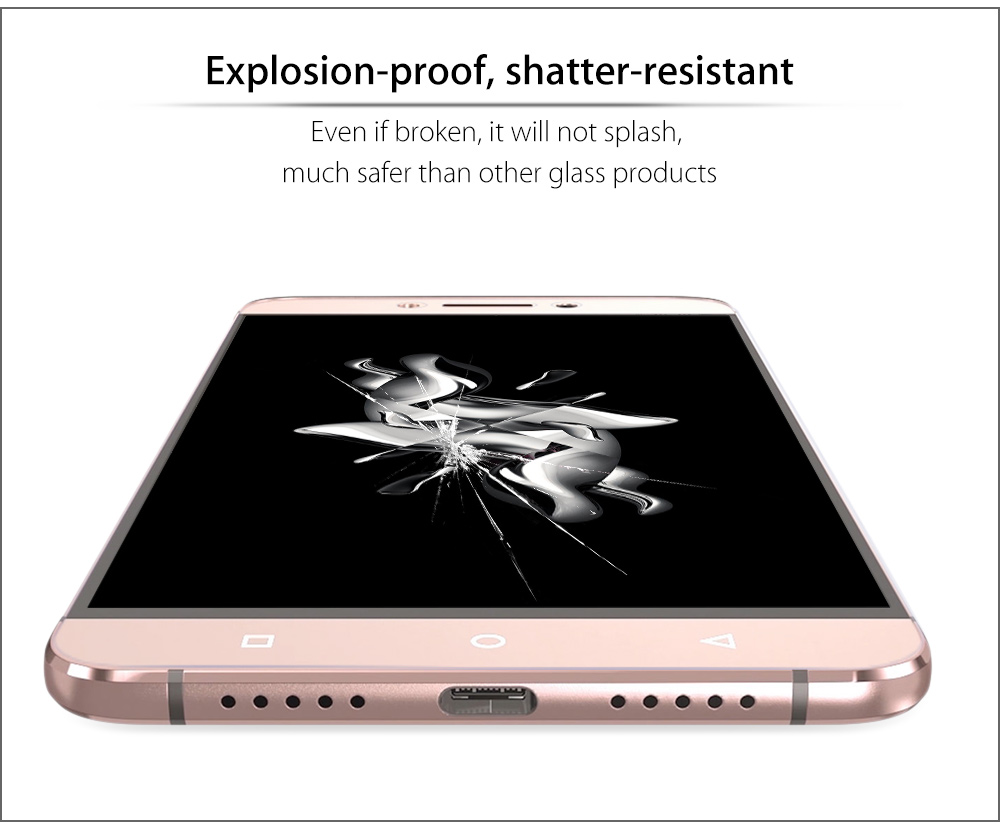 2.5D 9H Tempered Glass Explosion-proof Curved Edge Transparent Protective Film for Letv Max 2 5.7 inch 0.2mm