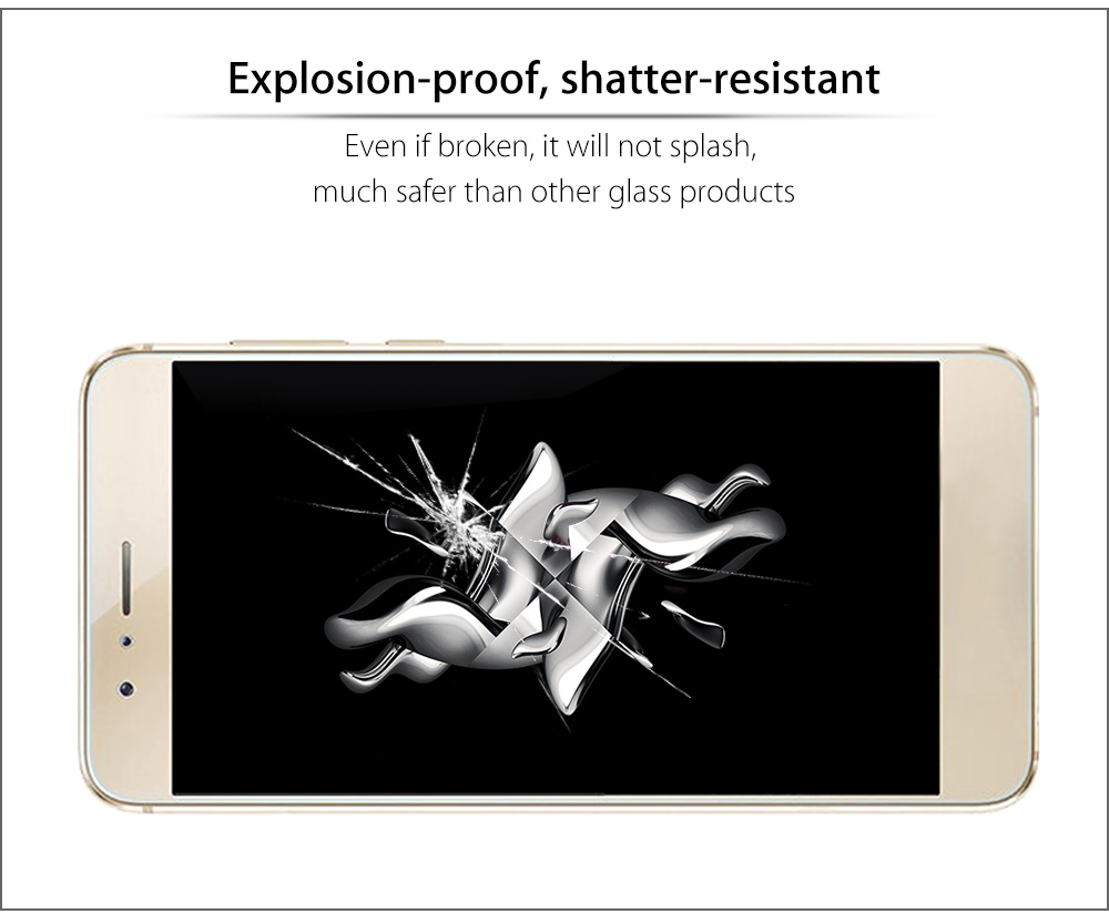 2.5D 9H Tempered Glass Explosion-proof Curved Edge Transparent Protective Film for HUAWEI honor 8 0.2mm