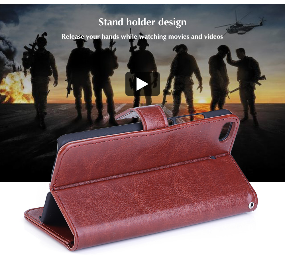 Tomkas Crazy Horse Series PU Leather Cover Case Wallet 2 in 1 with Card Slot for Xiaomi 5S