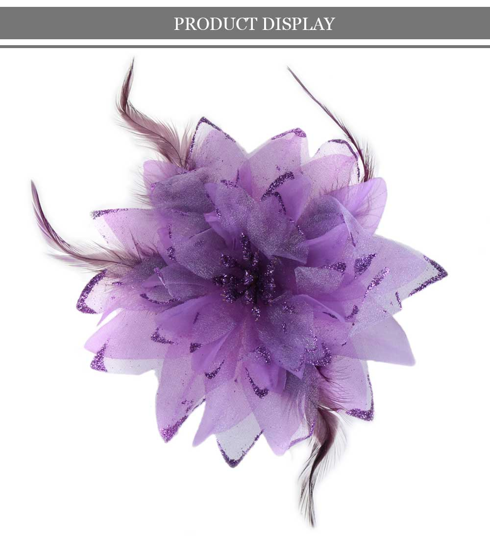 Fashionable Lily Oversize Floral Design Hair Pin for Girls