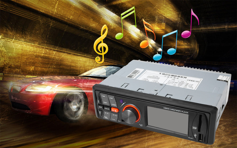 AV283 12V Vehicle MP3 Audio Player HiFi Car Stereo FM Radio with USB / SD Port