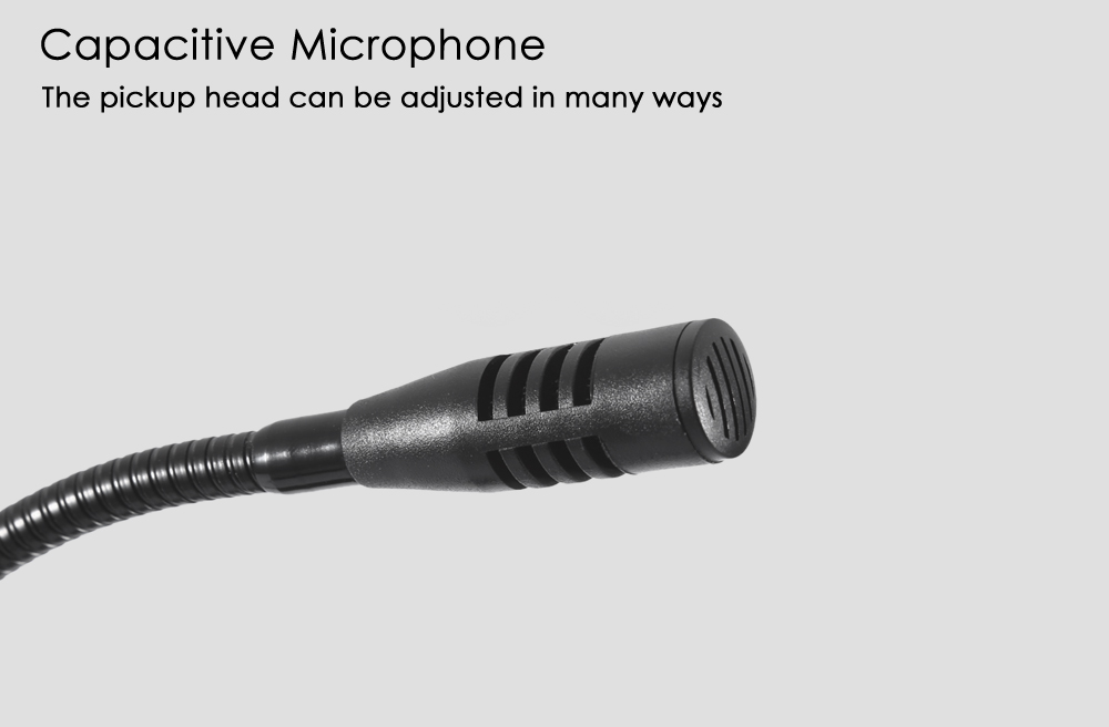 WEISRE M - 180 Wired Capacitance Microphone Noise Canceling Mic