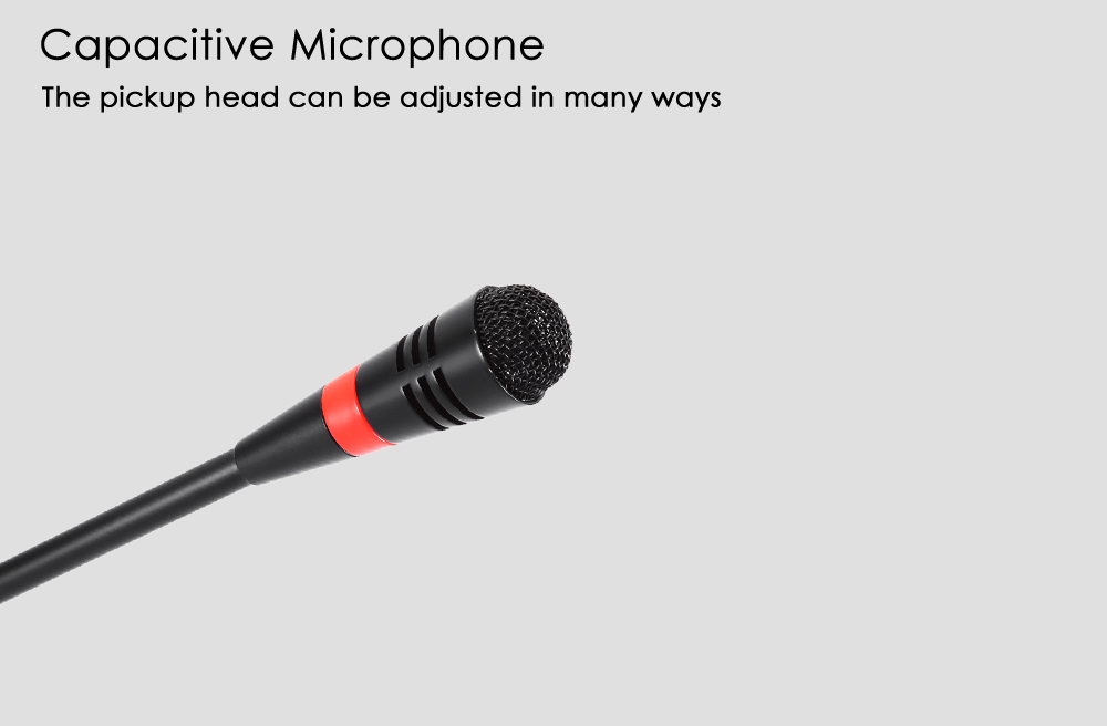 WEISRE M - 580 Wired Capacitance Microphone Noise Canceling Mic