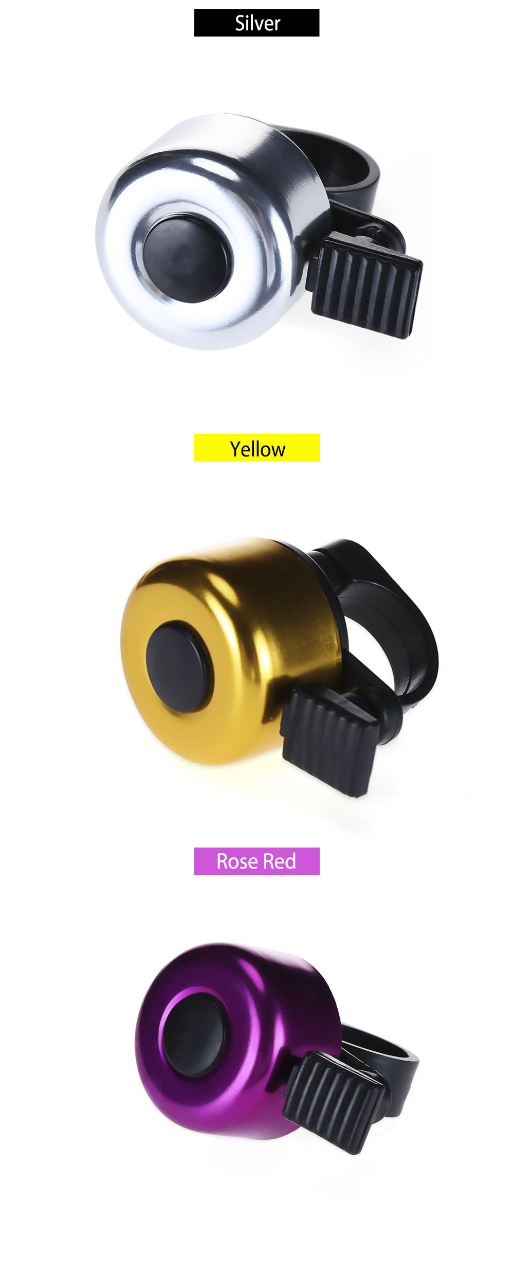 Colorful Mini Bicycle Bike Aluminum Alloy Handle Bell