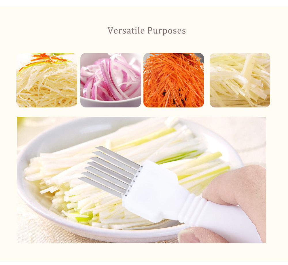 Stainless Steel Onion Vegetable Shredder Slicer Cutter Kitchen Gadget